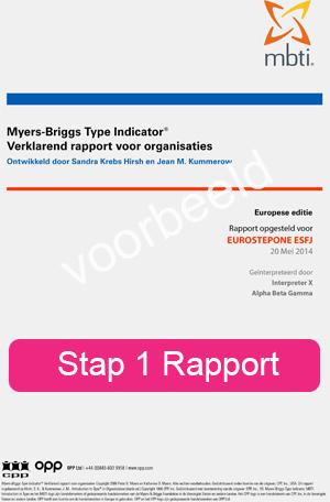 Stap 1 Rapport MBTI