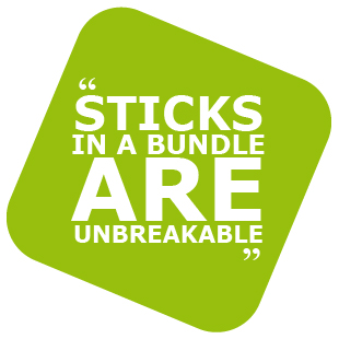 Sticks in a bundle are unbreakable